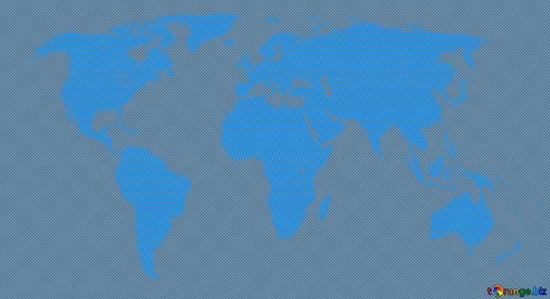 World map blue background concept global network  line composition  global business №54504