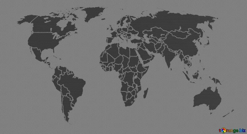 World map dark background concept global network  line composition  global business №54508
