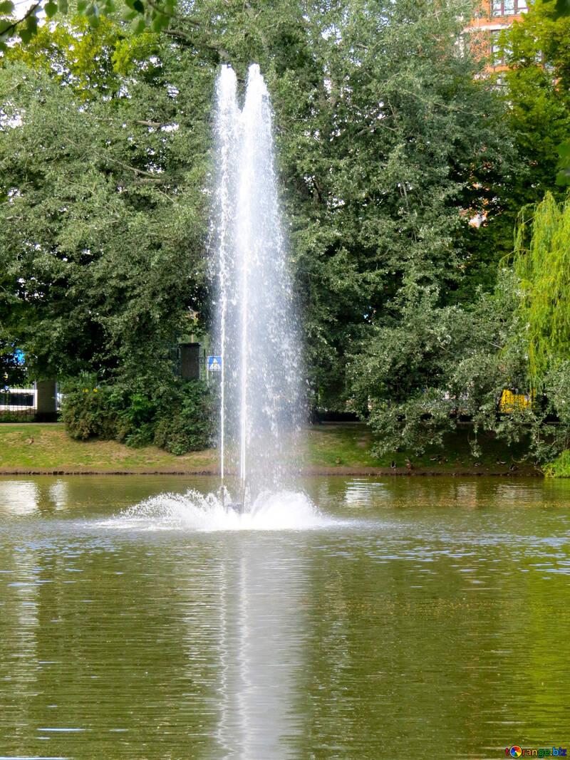 A fountain waterfall №54203