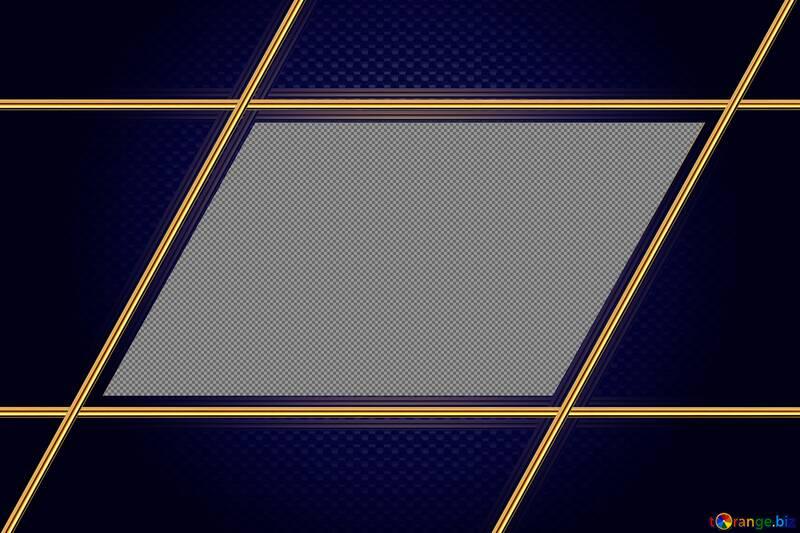 Blue Carbon gold frame hi-tech №54471