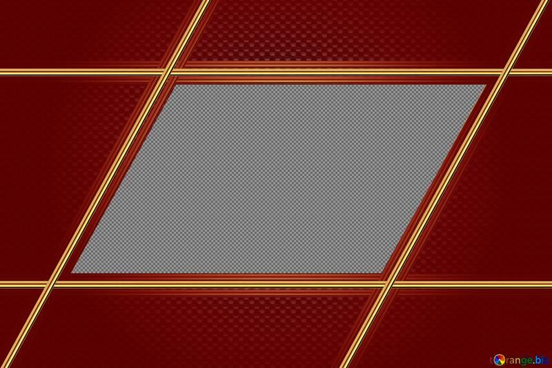 Red Carbon gold frame hi-tech №54470
