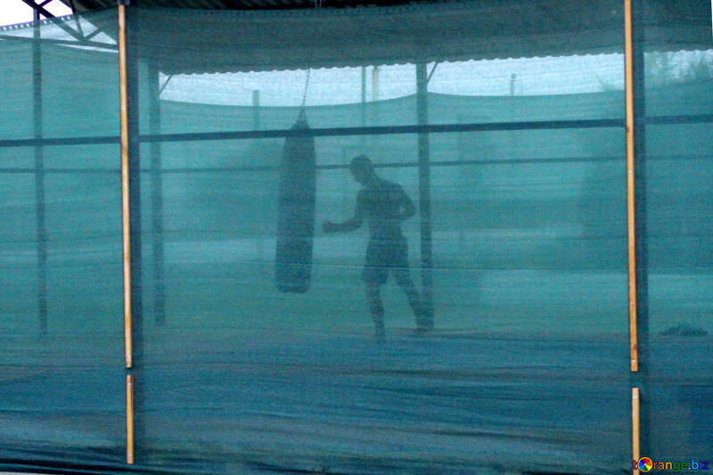 A man person boxing punching bag №54150