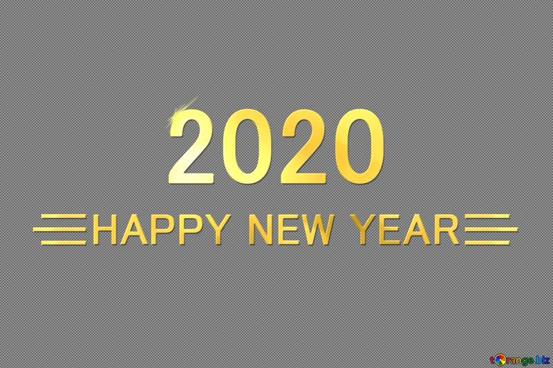 Shiny happy new year 2020 background with gold №54489