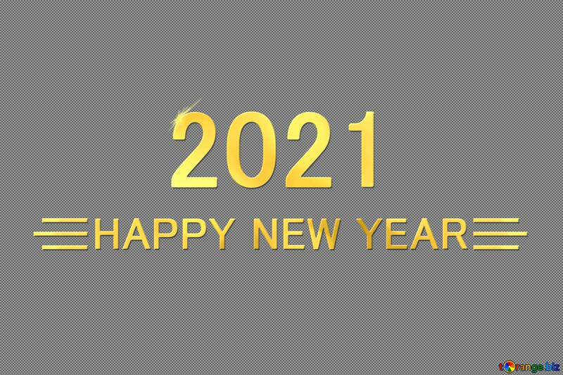 Shiny happy new year 2021 background with gold №54488