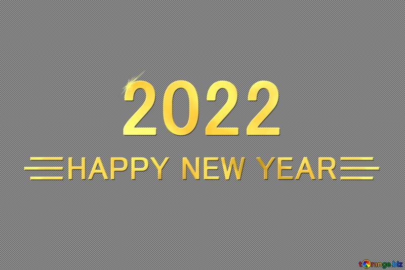 Shiny happy new year 2022 background with gold №54487