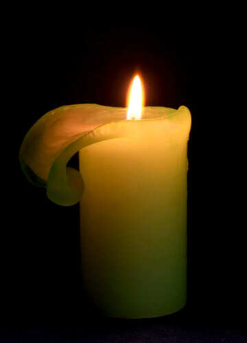 Candle  at  dark  background №6178