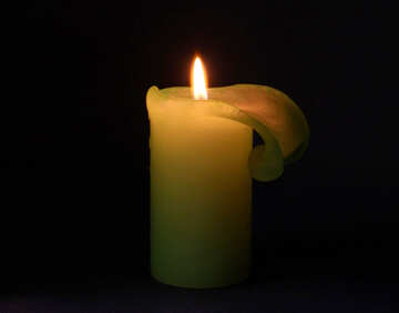 Lit  candle №6180