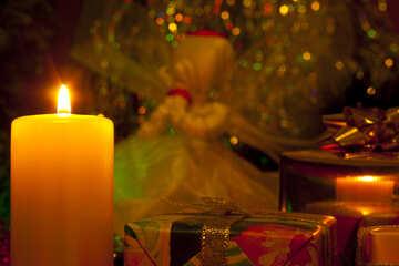 Christmas  candle. №6633