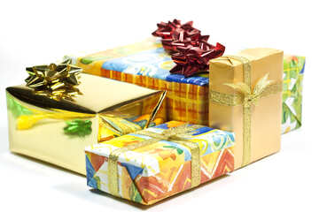 Gifts boxes with bows. №6725