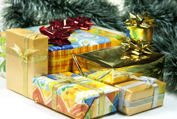 Gifts   tree  at  White  background №6727