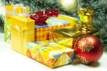 Gifts  at  White  background №6729