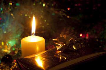 Новогодняя свеча. №6620