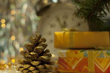 Gold Stoß Weihnachten Schienen №6860