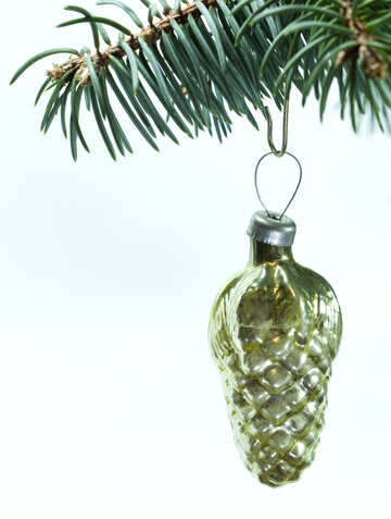 Old  Christmas  Decoration  at  White  background. №6839