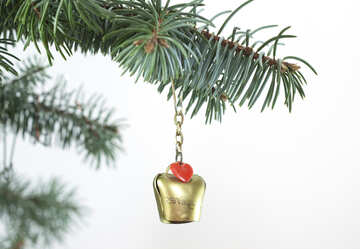 Swiss  bell  at  Christmas tree  thread №6747