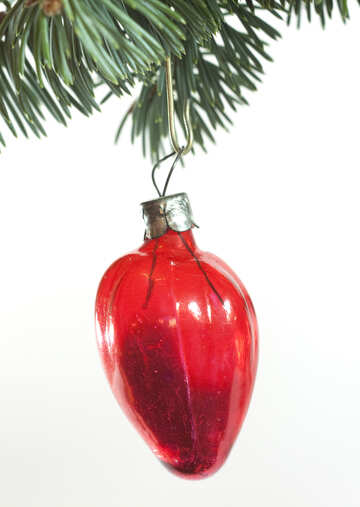Christmas tree  toy  old  at  White  background. №6748