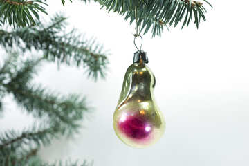 Christmas tree  toy   form  pears. №6817