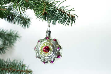 Retro  Christmas tree  Toy ball. №6831