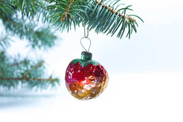 Christmas tree  Decoration   form  Strawberry . USSR №6836