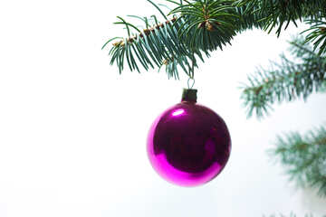 Ball  at christmas tree. №6823