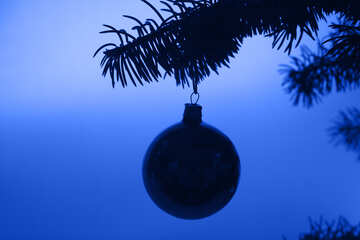 Contour  Christmas tree  Toy ball. №6826