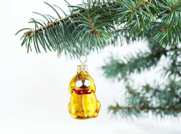 Year  dog . Christmas  Decoration №6758