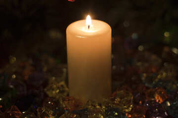 Holiday  candle. №6655