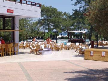 Abierto terraza Restaurante piscina №6994
