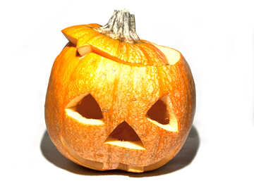 Carved  pumpkin №6065