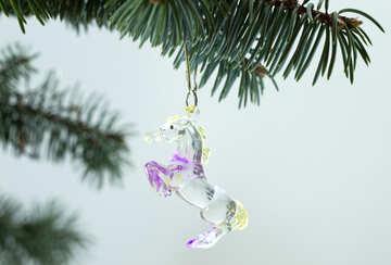 Horse  at  Christmas tree  thread №6742