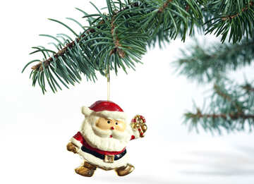Grandfather frost . Christmas Decoration at White background №6762