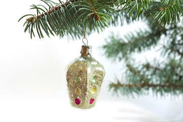 Weihnachten Baum Spielzeug . UDSSR . Straßenbeleuchtung №6759
