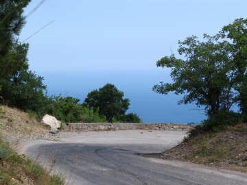 Stretto Montagna strada . Tipo mare. №6962