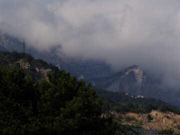 Mountains  below. №6944