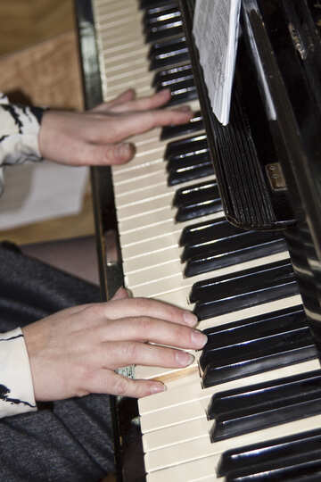 Hands  play  at  piano №6158
