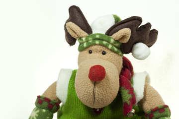 Soft  Toy . Deer . New Year. №6706
