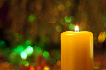 Candle at New  year  and  Xmas. №6665