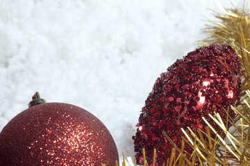 Christmas tree  Jewelry . Reds. №6362