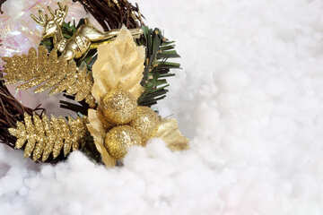 New Year  wreath №6451