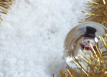 Snowman . Background   new  year. №6400