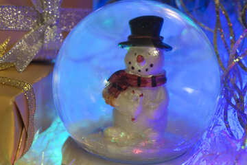 Snowman   glass  ball №6556