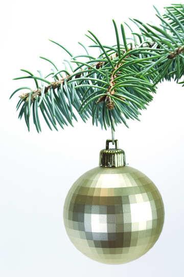 Christmas  ball  at  tree. №6787