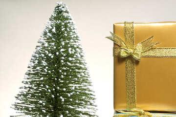 Geschenk und Weihnachten Baum №6608