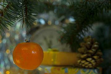 Mandarin  at  tree. №6864