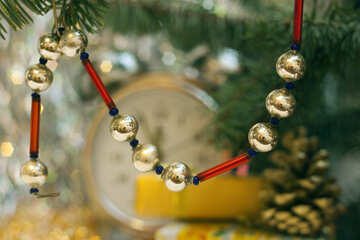 New-year beads. №6893