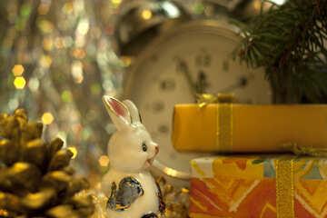 Neu Jahr Kaninchen. №6861