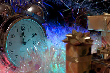 Picture   new  year   clock №6559