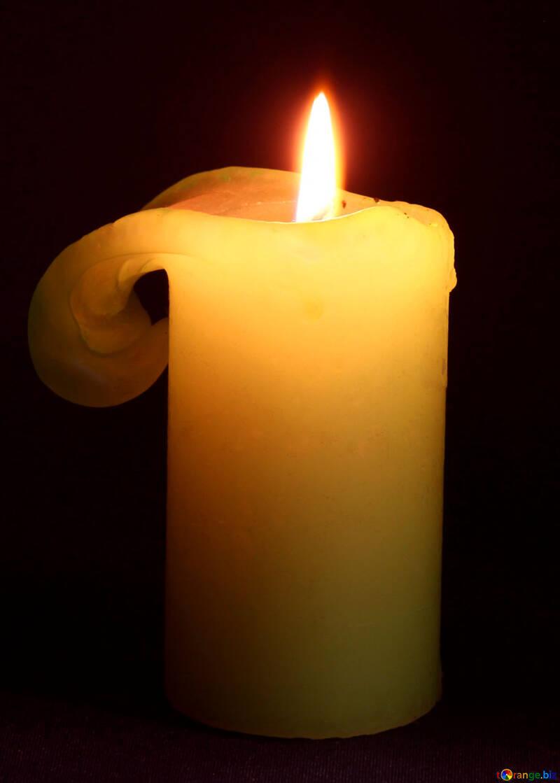 Tearful  candle №6176