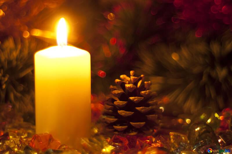 Christmas  candle. №6691