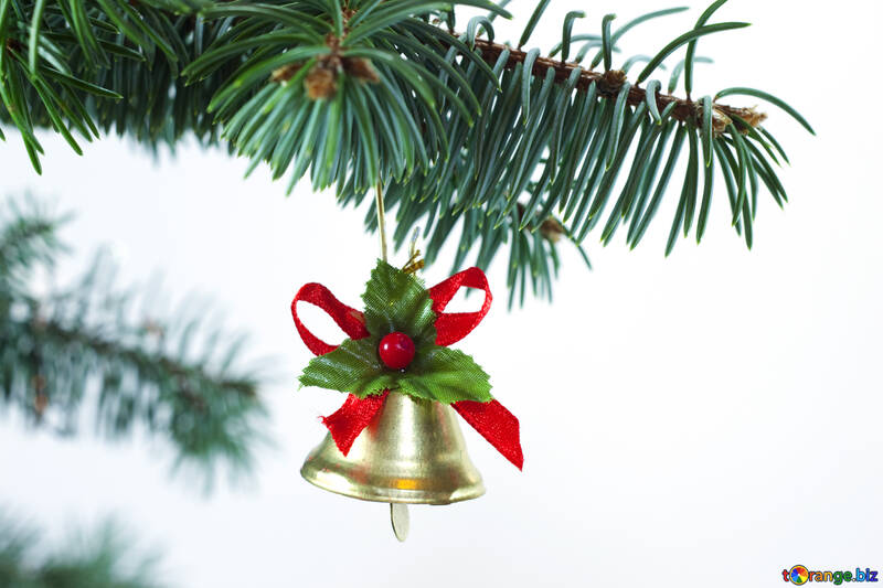 Toys  bell  at  Christmas tree  thread №6738